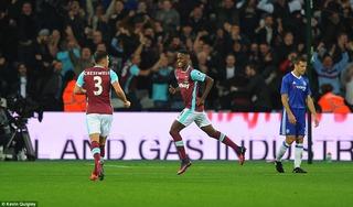 Chelsea bị loại cay đắng khi thất thủ trước West Ham