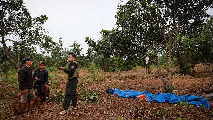 Hiện trường nơi xảy ra vụ xô xát giữa người dân và bảo vệ của Công ty Long Sơn
