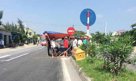 Hiện trường vụ tai nạn giao thông khiến anh Chung tử vong tại chỗ