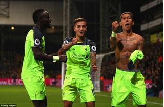 Liverpool vượt qua Crystal Palace trong trận cầu siêu kịch tính