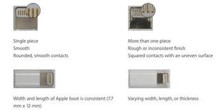 Cách phân biệt cáp sạc iPhone thật, giả