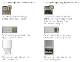 Tuyệt chiêu phân biệt sạc cáp Apple hàng thật - hàng giả