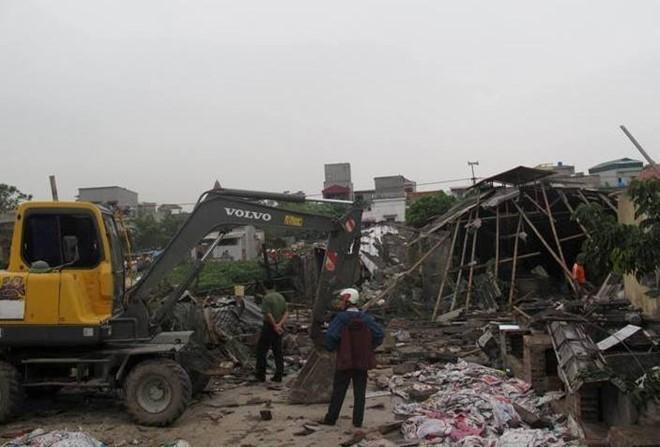 Hiện trường vụ nổ lò hơi ở Thái Bình