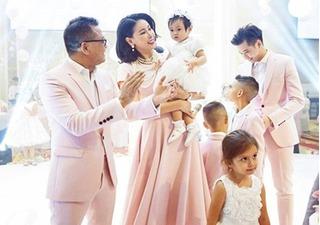 Vợ chồng Hà Kiều Anh làm tiệc thôi nôi cho con gái tại khách sạn 5 sao