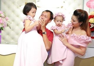 Vũ Thu Phương lần đầu lộ diện cùng chồng và hai con gái