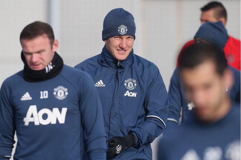Bastian Schweinsteiger đã quay lại luyện tập