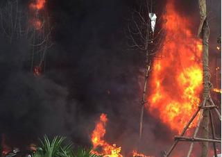 Cháy lớn trên phố Trần Thái Tông: Cập nhật thông tin mới nhất