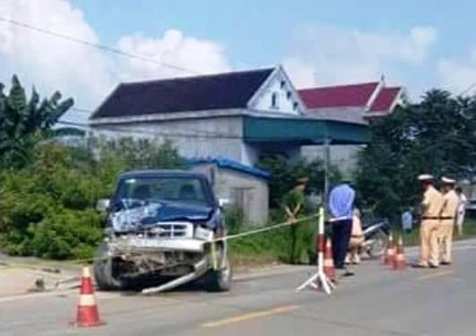 Hiện trường vụ tai nạn giao thông khiến 2 thiếu niên tử vong