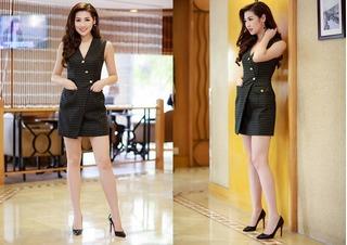 Á hậu Tú Anh diện váy ngắn khoe chân dài 1m05