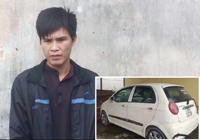 Đối tượng cùng xe ô tô dùng để trộm cắp tài sản