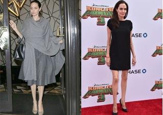 Angelina Jolie chỉ còn 35 kg sau khi ly hôn Brad Pitt?