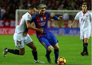 Messi tiếp tục ghi bàn, Barca đánh bại Sevilla 2-1