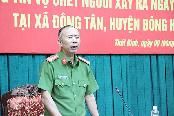 Đại tá Nguyễn Đình Trung, Phó giám đốc công an tỉnh - thưởng cơ quan điều tra Công an tỉnh Thái Bình