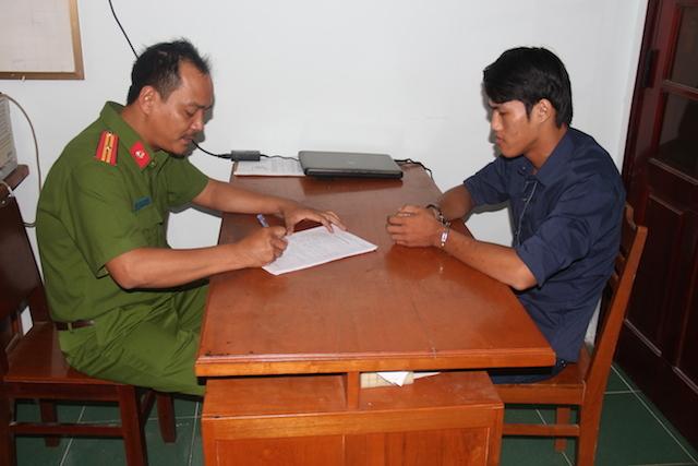 Đối tượng Hà Minh Thành tại cơ quan điều tra