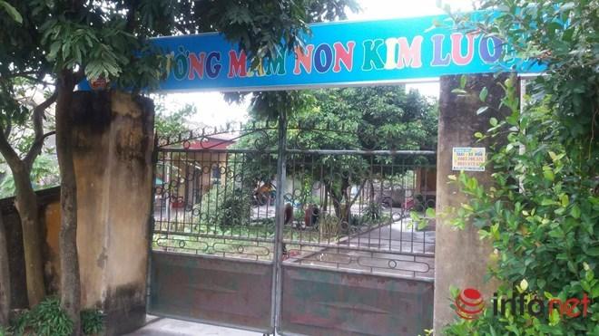 Trường mầm non Kim Lương, nơi bé mầm non tử vong bất thường
