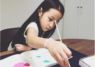 Tiểu công chúa siêu đáng yêu của Triệu Vy