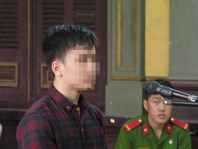 Bị cáo Trung tại phiên xử