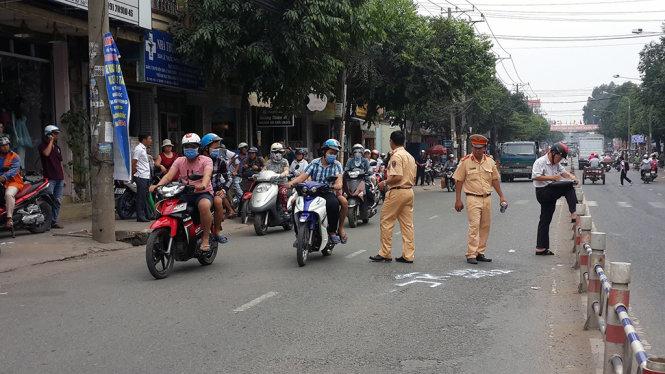 Công an TP Biên Hòa dựng lại hiện trường nghi án cảnh sát 113 truy đuổi gây tai nạn.