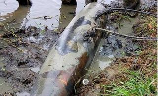 """Phát hiện bom """"khủng"""" nặng trên 200kg ở Hà Tĩnh"""