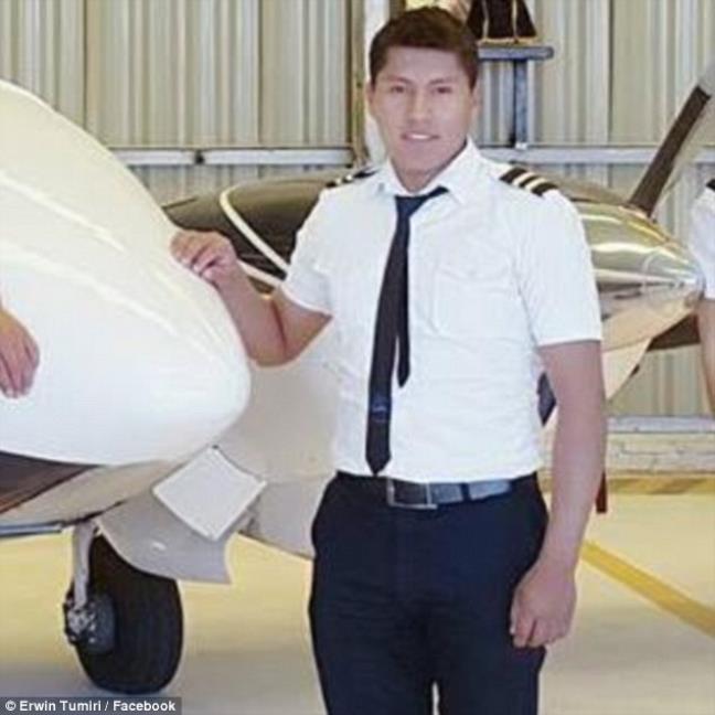 Anh Erwin Tumiri là người sống sót sau vụ máy bay rơi ở Colombia