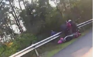 Xôn xao clip đôi nam nữ gặp đại họa khi đổ đèo Tam Đảo