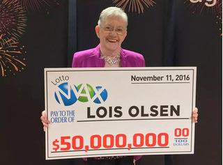 Cụ bà 80 tuổi người Canada trúng xổ số 38 triệu USD