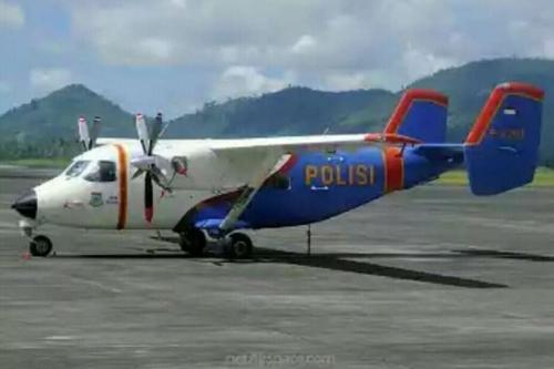 Máy bay M-28 Skytruck của Indonesia. Ảnh: RiauIslandsPolice