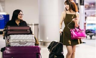 Ngọc Trinh nổi bật giữa sân bay Tân Sơn Nhất