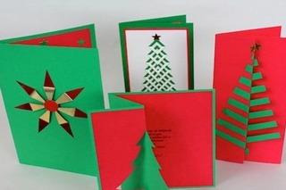 Cách làm thiệp Giáng sinh với hình ảnh cây thông xinh lung linh