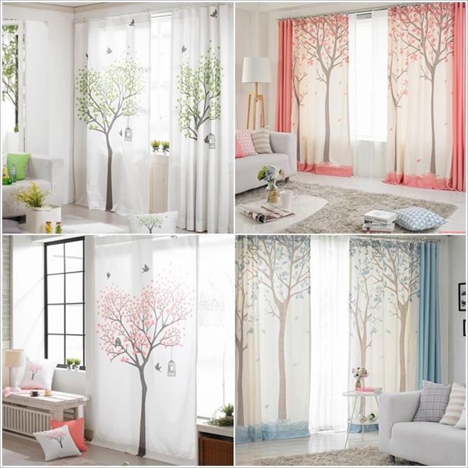 Phối màu ri đô cửa sổ phù hợp với căn phòng