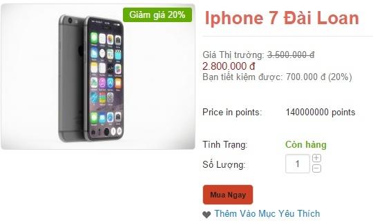 iphone 7 hàng nhái 2