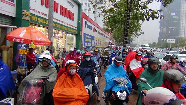 tắc đường ở Hà Nội