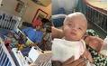 Bé trai 10 ngày tuổi bị bỏ rơi ở cổng chùa đã được đưa sang Singapore mổ úng thủy não