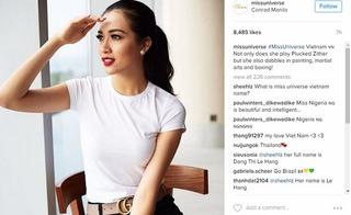 Á Hậu Lệ Hằng bất ngờ lọt top 20 bình chọn Miss Universe 2016