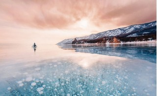 Lặng ngắm khung cảnh kỳ vĩ tại hồ băng Baikal tuyệt đẹp ở Nga