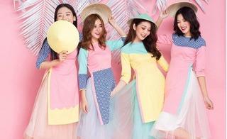 Đủ kiểu phối hợp áo dài cách tân đón Tết 2017 cho nàng sành điệu