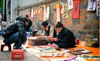 """Nhà thư pháp Lê Thiên Lý: """"Ông đồ"""" rởm cho chữ đầu năm làm mất đi giá trị văn hóa"""