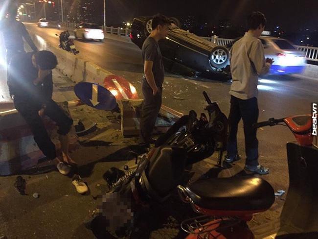 ô tô mất lái gây tai nạn liên hoàn ở Hà Nội 8