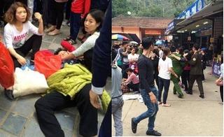 Công an lên tiếng vụ bà cụ bị đánh ngất vì dẫm chân cô gái khi đi chùa Hương