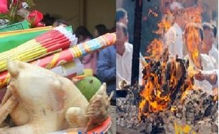 Lên chùa cúng đồ mặn, đốt vàng mã gây ô nhiễm... sẽ mang tội với Phật