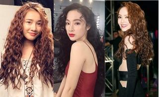 Sao Việt để tóc xoăn
