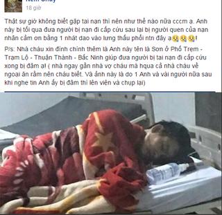 Chủ tịch tỉnh Bắc Ninh yêu cầu điều tra vụ nam thanh niên bị đâm khi đưa người gặp nạn đi cấp cứu