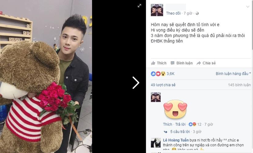 hot boy ôm gấu và hoa4