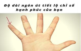 Độ dài ngón tay út tiết lộ chỉ số hạnh phúc của cuộc đời bạn