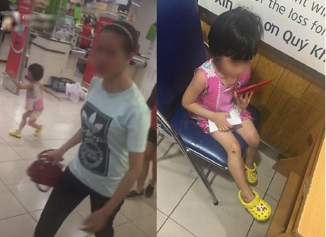 Người mẹ đánh con trong siêu thị 1