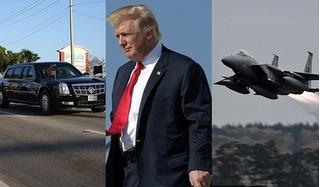 Vật thể lạ và máy bay bí ẩn thay nhau đe dọa an nguy của Tổng thống Mỹ Trump
