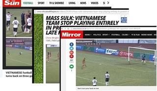 Báo chí quốc tế gọi hành vi giận dỗi bỏ đá của cầu thủ Long An là