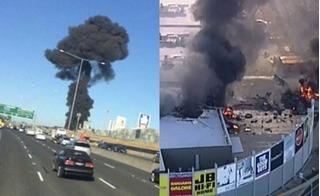 Biển lửa từ chiếc phi cơ bay lạc xuống trung tâm thương mại, 5 người chết