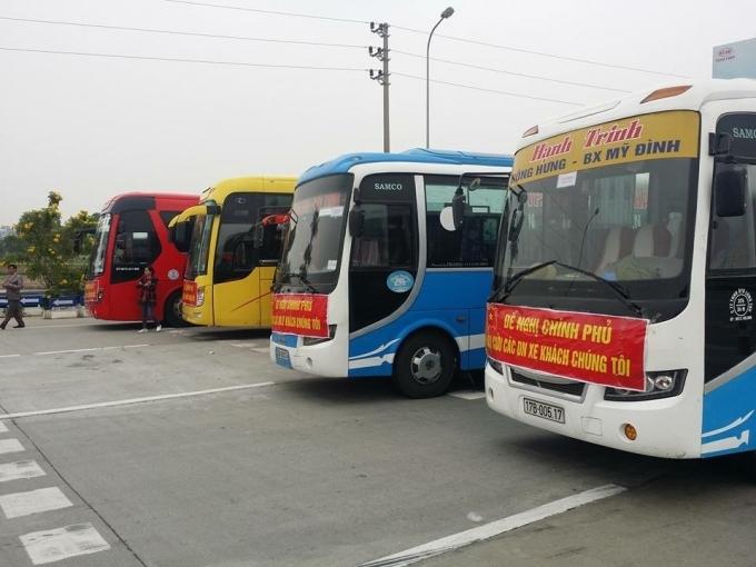 xe khách phản đối phân luồng tuyến