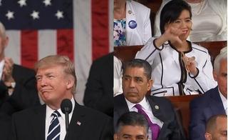 Phân nửa Quốc hội la ó, chỉ ngón cái xuống đất khi ông Trump kêu gọi xô đổ Obamacare